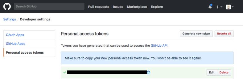 Github-access-token