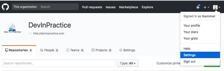 Github-settings-menu